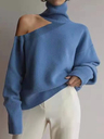 Fashion High-neck Casual Long-sleeved Hollow Sweater