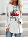 Cozy This Is My Hallmark Christmas Movies Watching Shirt Print Top