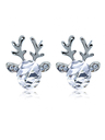 Crystal Gem Antler Stud Earrings