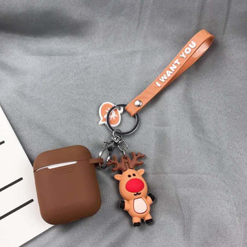Santa Claus Reindeer Airpods Protective Case Apple Bluetooth Headset 1/2 Generation Silicone Case