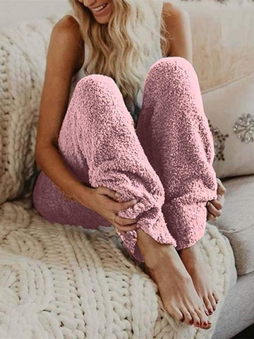 Warm Fur Winter Fleece Pants
