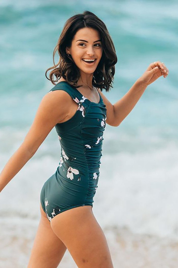 THE VICTORIA OFF SHOULDER ONE-PIECE SWIMSUIT