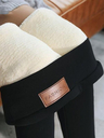 Women Warm Pants Winter Skinny Thick Velvet Wool Fleece