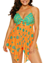 Polka Dot Ruffled 2pcs Tankini Set