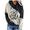 WOMEN'S WORRY ENDS WHEN FAITH IN GOD BEGINS PRINT HOODIE